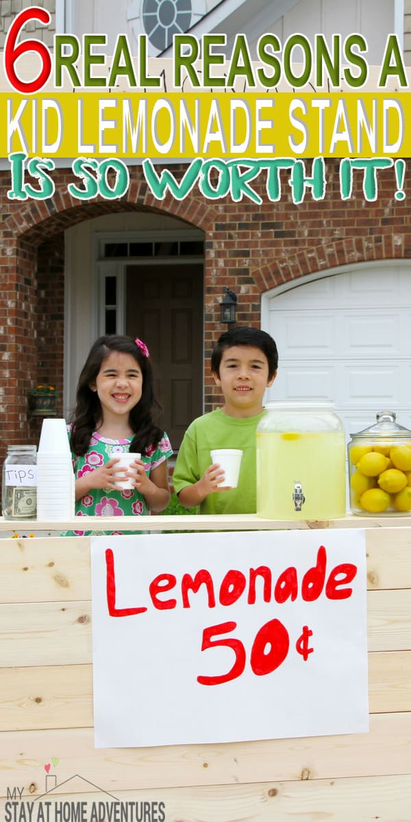 Even today we encourage parents to have a kid lemonade stand and for good reasons. A lemonade stand for kids is good for them and you can learn why here.