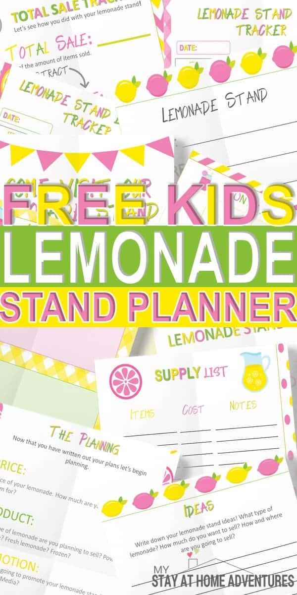 Hurry and grab this free kids lemonade stand planner. A digital free lemonade printable dedicated to teaching your kids about making money.