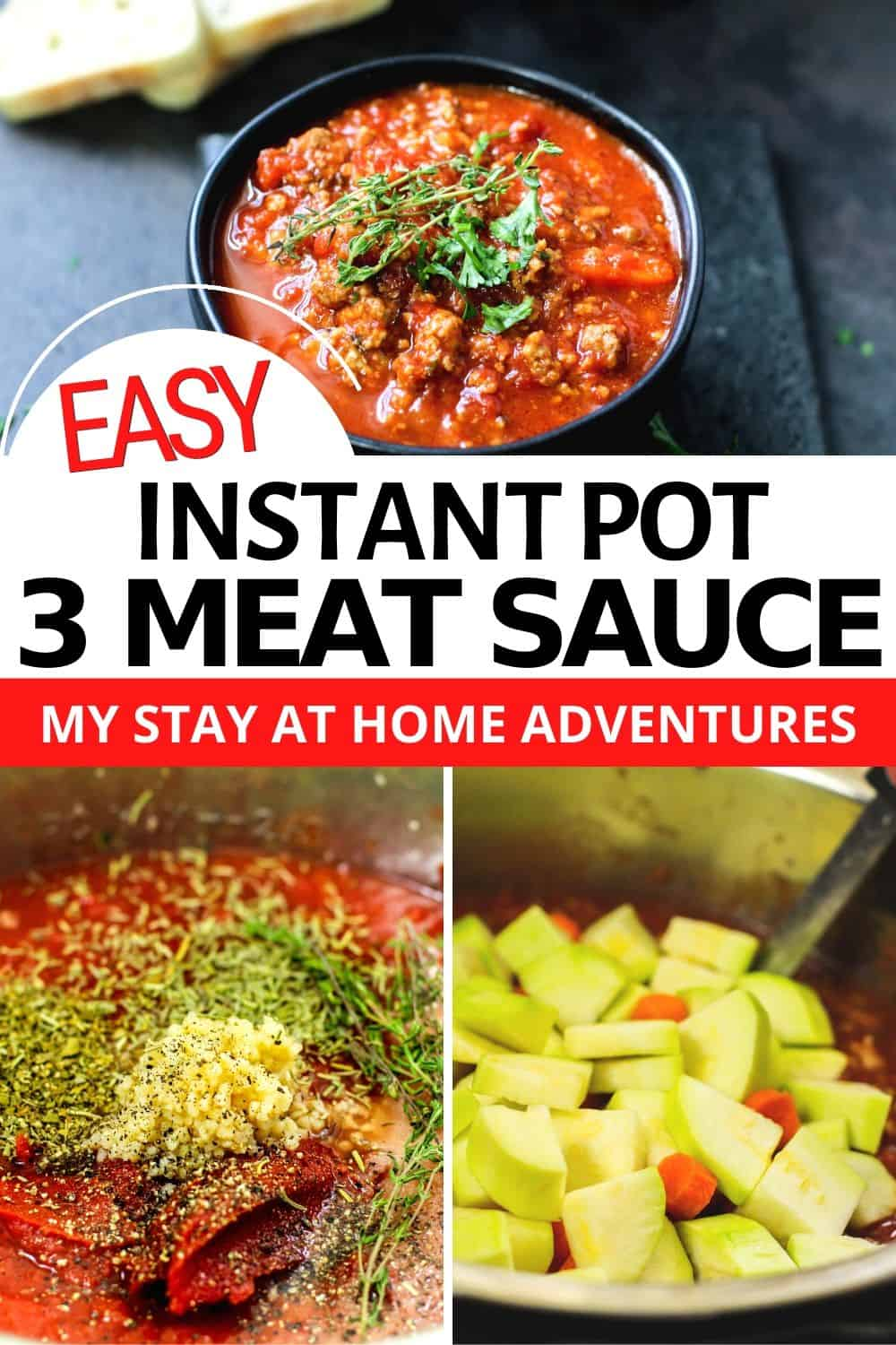 Instant Pot Homemade Meat Sauce is here! Learn to make this Bolognese Sauce Recipe and how to freeze meat sauce for later! via @mystayathome