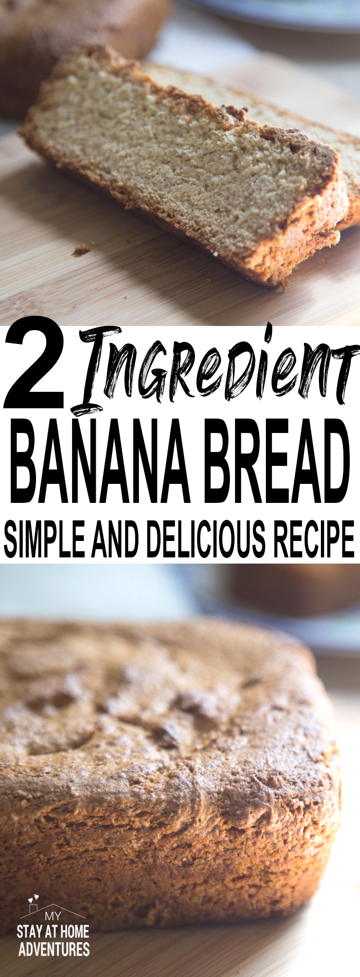 Learn this simple and delicious 2 ingredient banana cake that you and your family are going to love.This 2 ingredient banana recipe is freezable too!