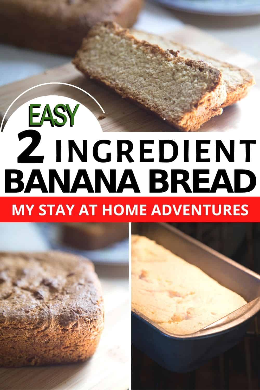 Learn this simple and delicious 2 ingredient banana bread that you and your family are going to love. This 2 ingredient banana recipe is freezable too! via @mystayathome