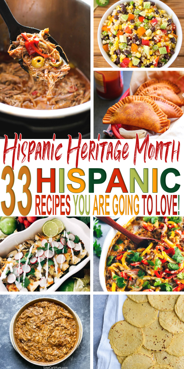 Celebrate National Hispanic Heritage Month with these thirtythree delicious Latin inspired recipes! From Mexican to Puerto Rican find them all here.