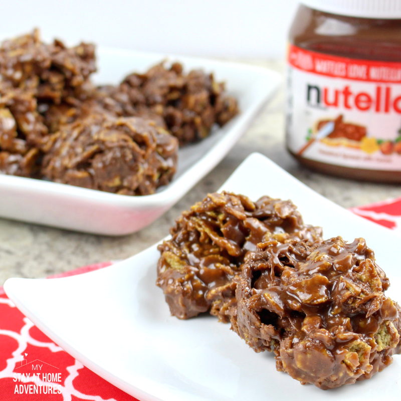 Learn how to make this 4 ingredients No Bake Nutella Cornflake Treats that is super simple to make and delicious as well.