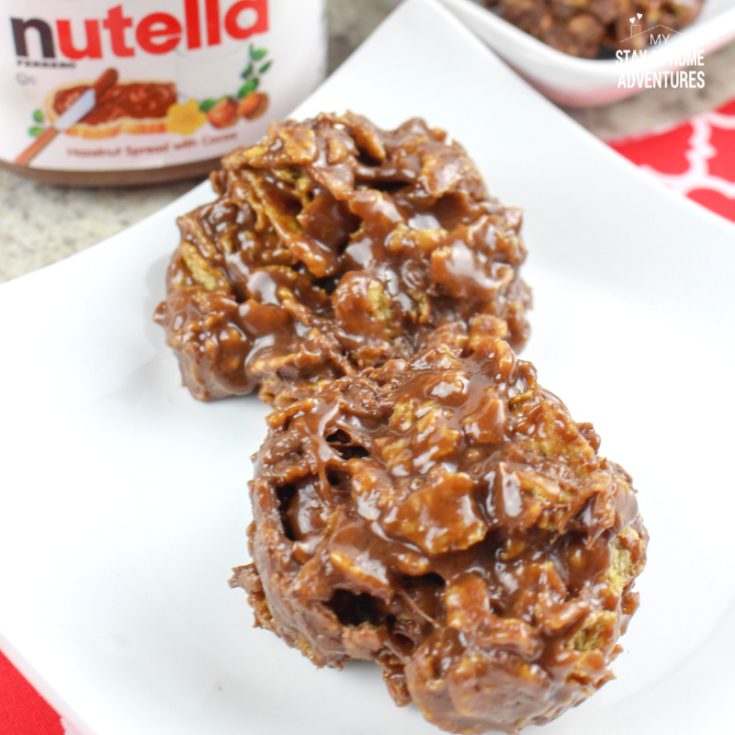 No Bake Nutella Cornflake Treats