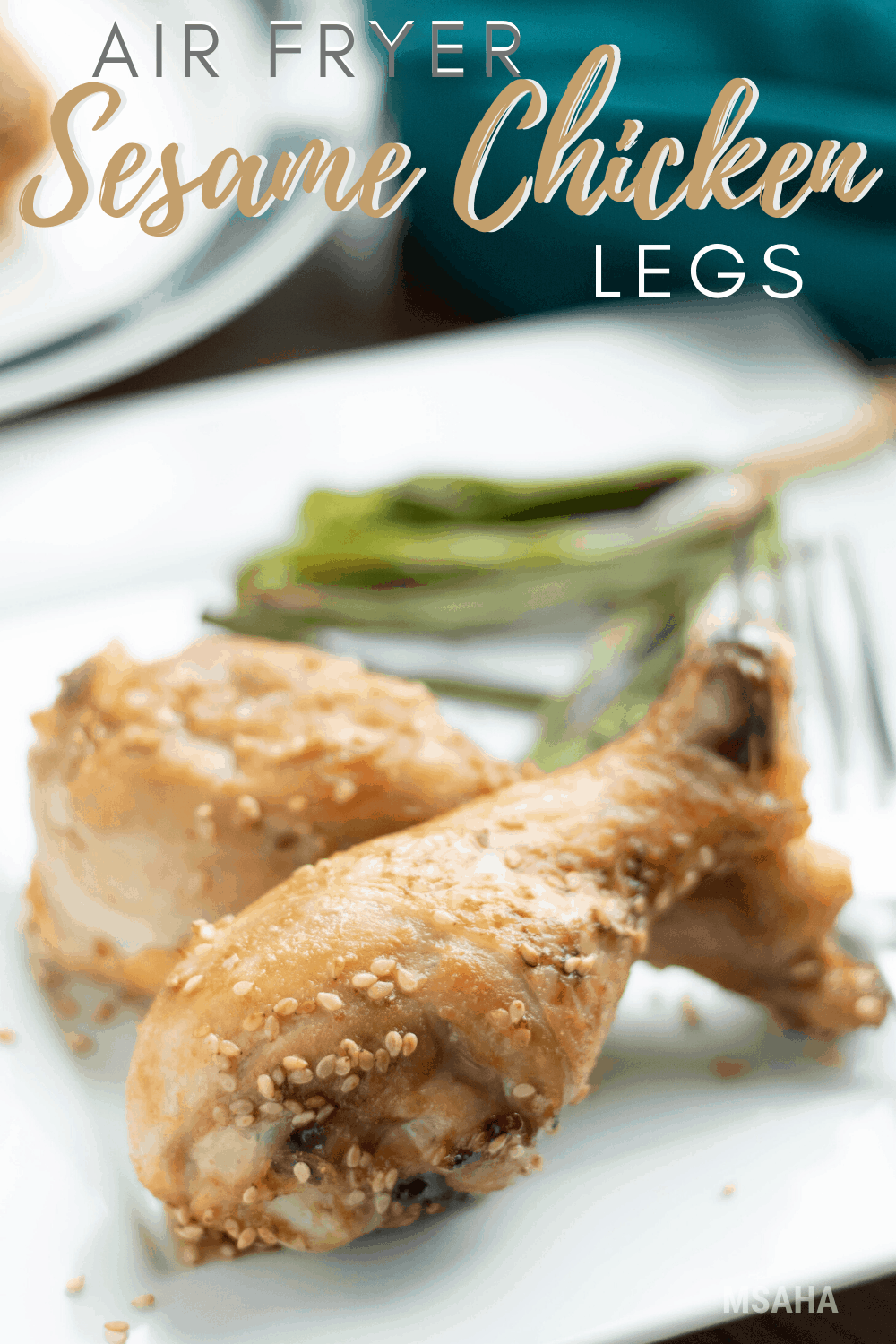 Learn how to make the best Low Carb Air Fryer Sesame Chicken Legs! So delicious and so low-carb friendly you are going to love this family-friendly recipe. #airfryer #recipe #chickenrecipe #lowcarb via @mystayathome