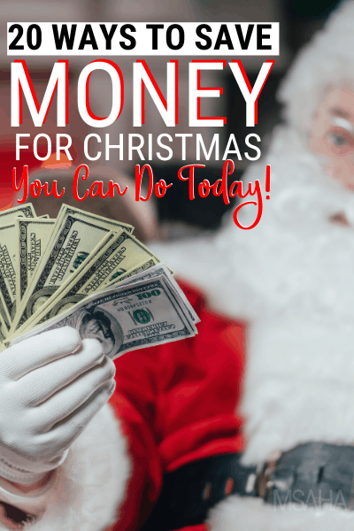 This 2019 try these 20 ways to save for Christmas and see them turn into year-long money habits that will help you grow your savings. via @mystayathome
