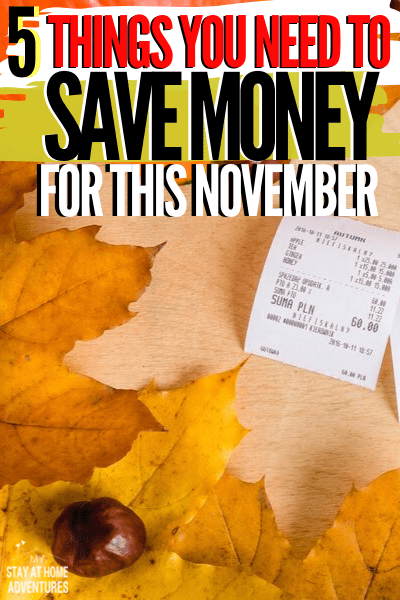 What to save for in November? Learn five things you might forget to save for, and no, it is not Christmas shopping or Black Friday and make sure you save. via @mystayathome