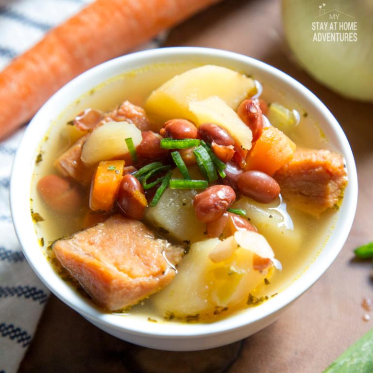 Instant Pot Ham Bean & Potato Soup