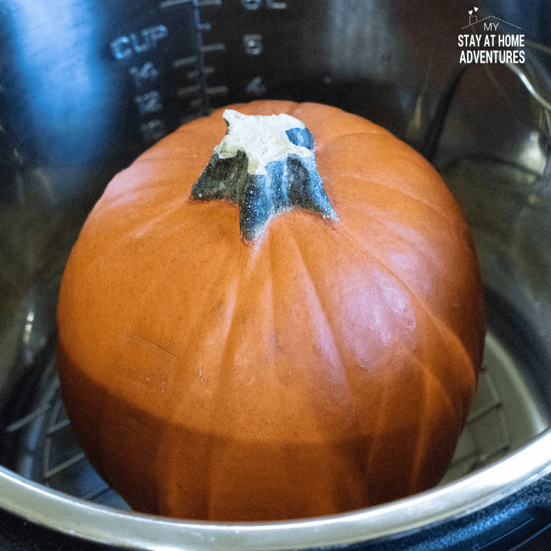 Pie pumpkin inside the Instant Pot