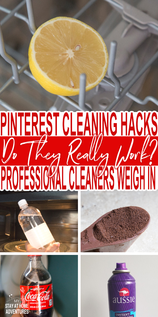 professional cleaner tested 5 of the top Pinterest cleaning hacks to see if they work or not. Find out the results and what do use instead.