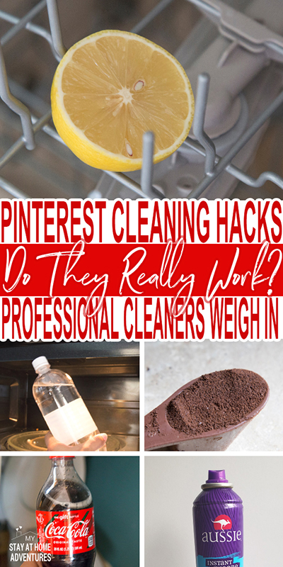 A professional cleaner tested 5 of the top Pinterest cleaning hacks to see if they work or not. Find out the results and what do use instead.