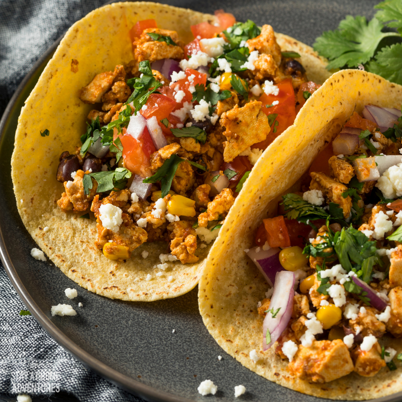 Tofu and Pepper Chili Tacos recipe