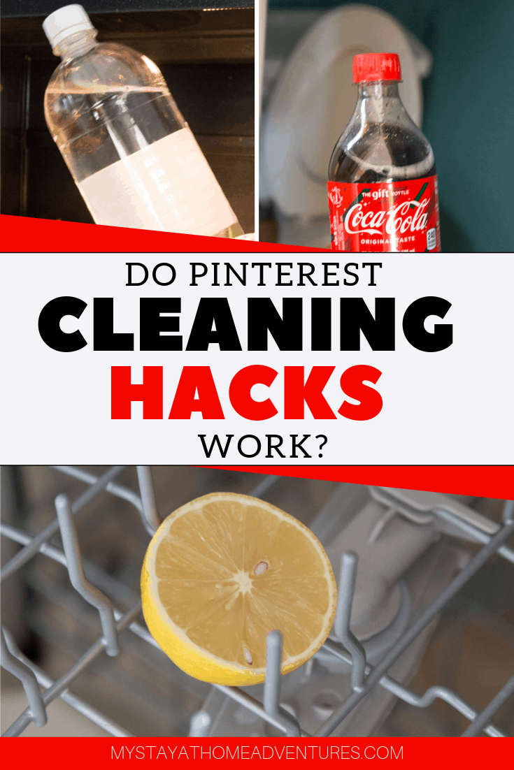 A professional cleaner tested 5 of the top Pinterest cleaning hacks to see if they work or not. Find out the results and what do use instead. via @mystayathome