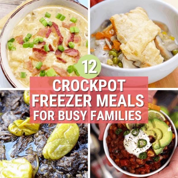 Over 12 Crockpot Freezer Meals