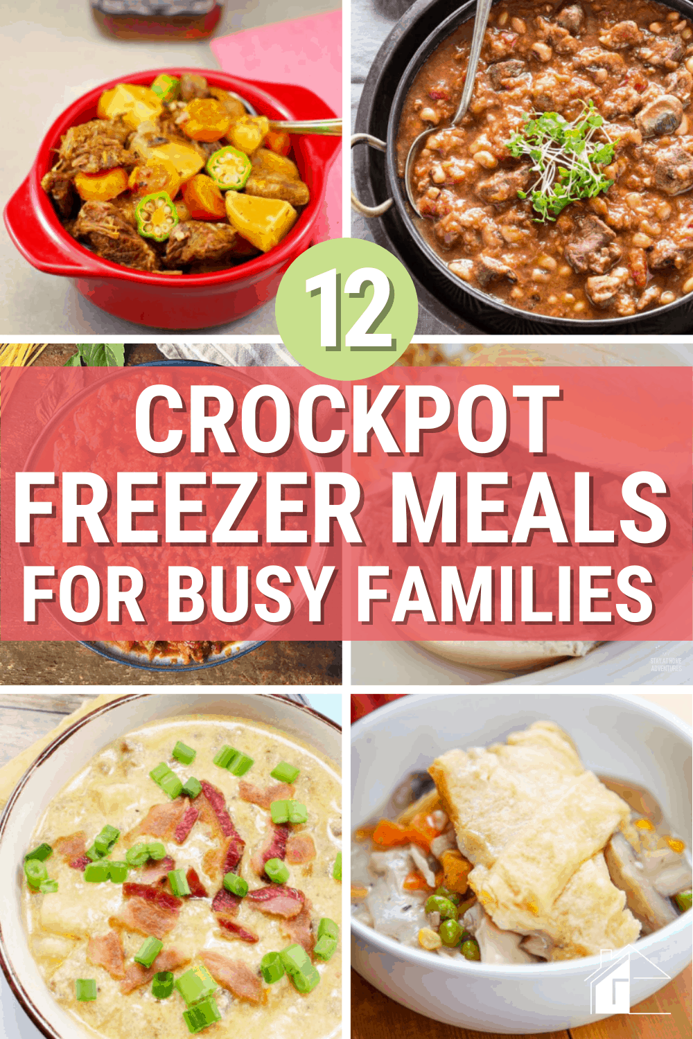 Are you looking for a way to save time and money on meal preparation? Check out these crockpot freezer meals for busy families. #slowcookerrecipes #crockpotrecipes #freezermeals via @mystayathome