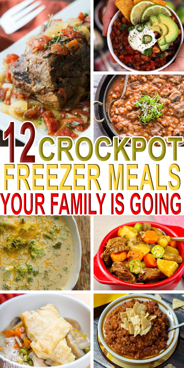 Over 12 Crockpot freezer meals for you to make and enjoy later! Check out these recipes from glutten-free to Whole30 friendly recipes you are going to love.