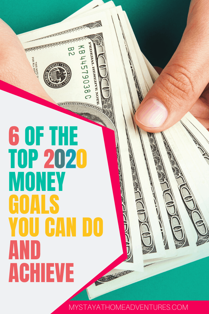 This year consider doing these six top 2020 money goals that are easy to do and easy to achieve. Learn what they are and how to make them today. via @mystayathome