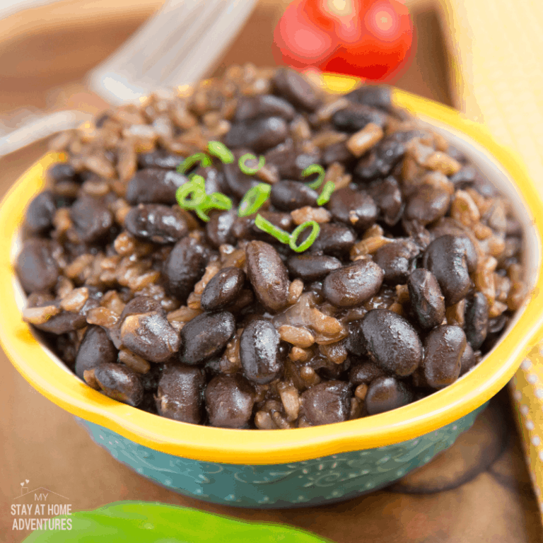 Instant Pot Black Beans and Brown Rice