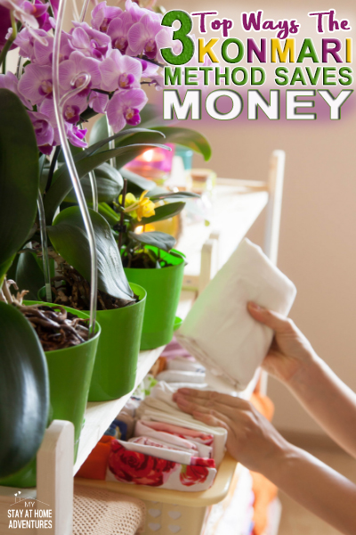 Learn the top three reason the Konmari Method saves you money and how you can start saving money today with these tips and ideas that do work.