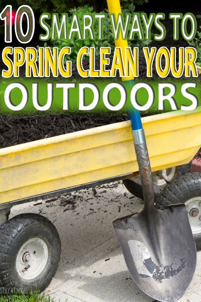 Spring cleaning is not just about indoors but outdoors as well. Learn ten tricks to spring clean your outdoor space that are effective.