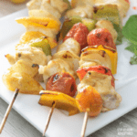 Air Fryer Curry Chicken Kabobs