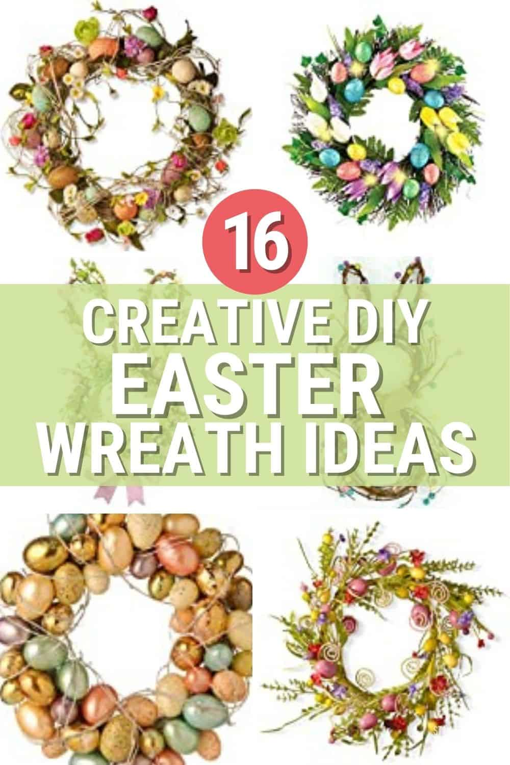 Looking for DIY Easter wreath ideas and inspirations? These sixteen Easter wreaths of 2021 will help you find the perfect wreath for your home via @mystayathome