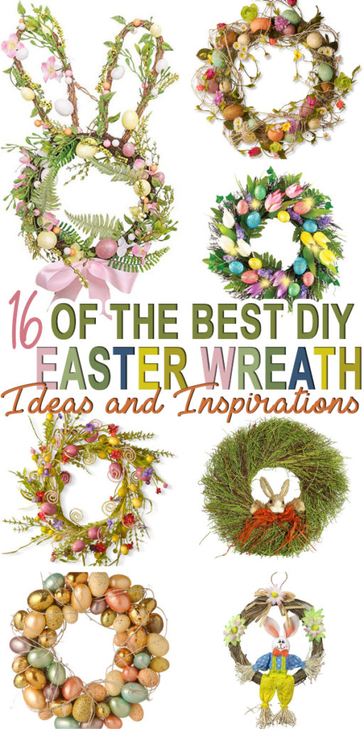 Looking for DIY Easter wreath ideas and inspirations? Check out sixteen of the best Easter wreaths of 2019 to help you find the perfect wreath for your home.