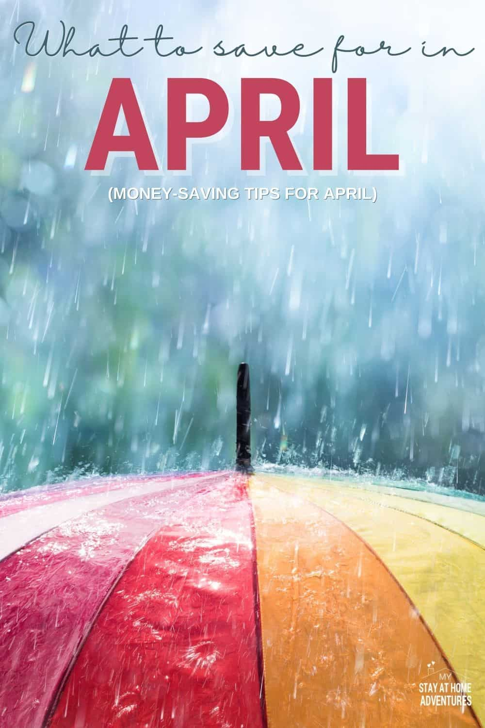 What to save for this April? Learn seven things to save for in April and why you need to budget for them. Before you budget this month read this. via @mystayathome
