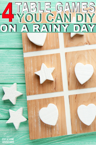 4 Table Games You Can DIY On A Rainy Day (Family Friendly)