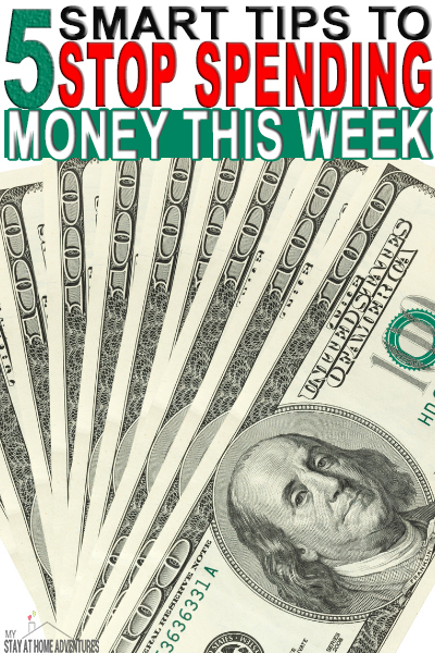 Reduce your weekly spending with these five tips to stop spending money. Learn what they are and start reducing your money spending this week.