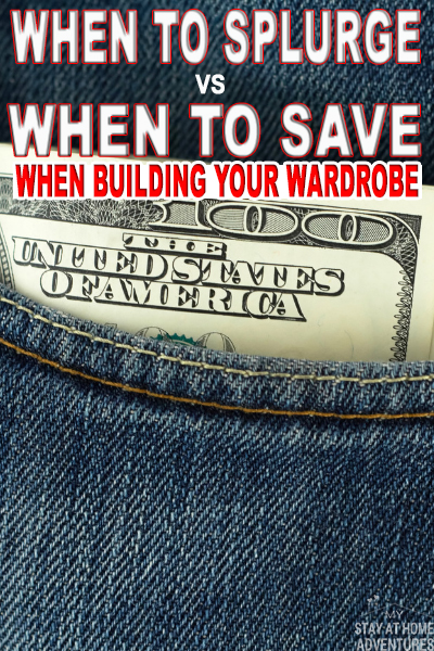 This is so important when it comes to splurge vs to save. Learn when to splurge vs. when to save when building your wardrobe.