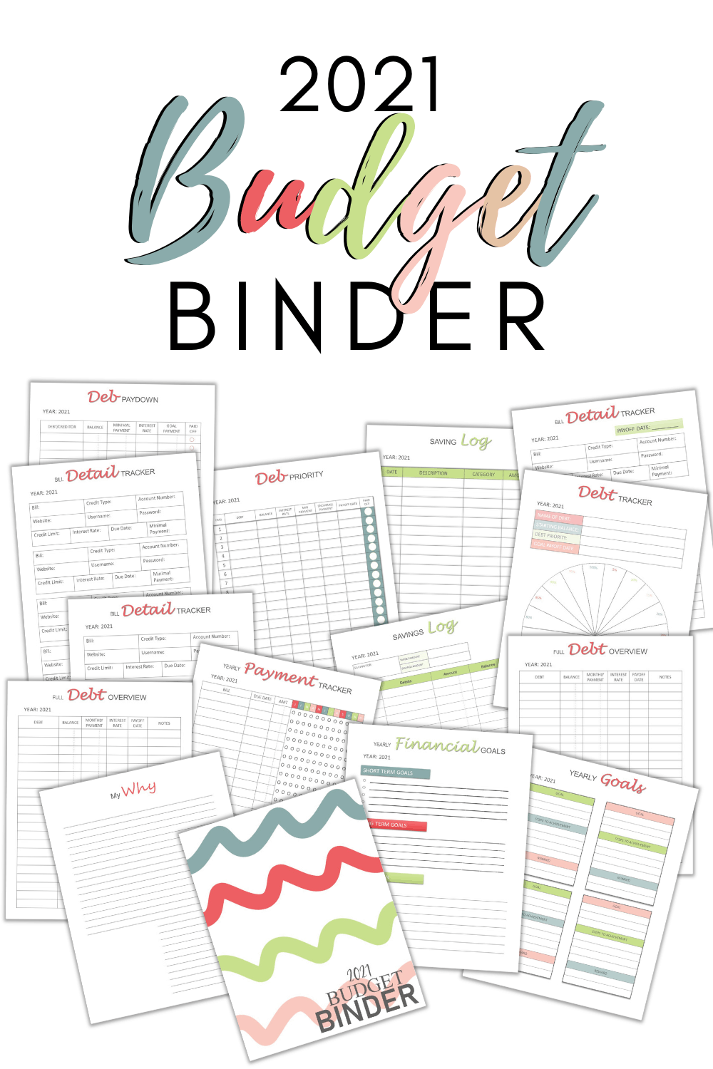 A budget binder is an essential tool when it comes to your personal finances. Learn how to use the 2021 budget binder printables and get ahead of the game. via @mystayathome
