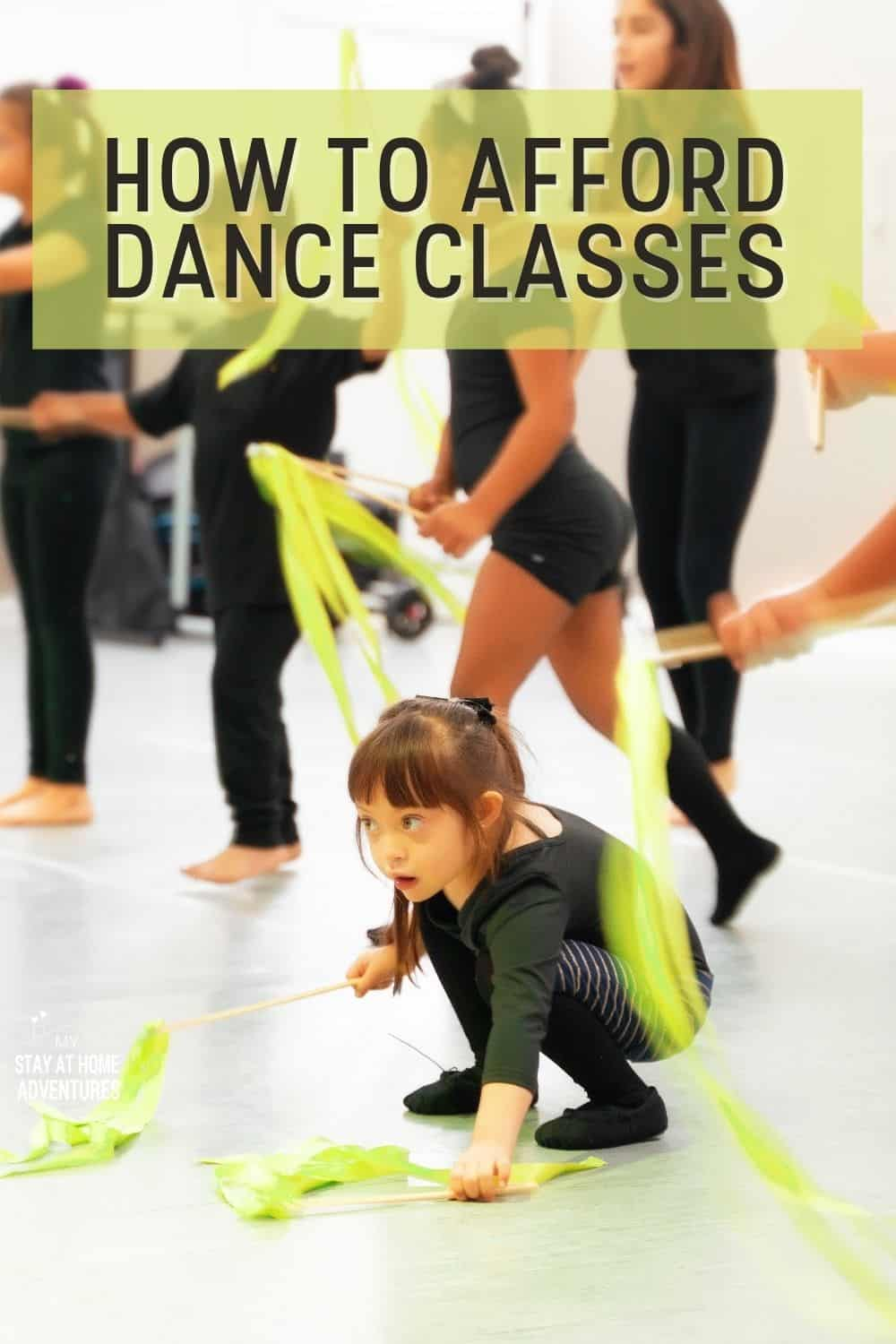 Learn how to afford dance classes with these eight budget-friendly tips. From finding aid to shopping around there are many ways to dance on a budget. #budget #dance #howto #afford #moneysavingtips via @mystayathome