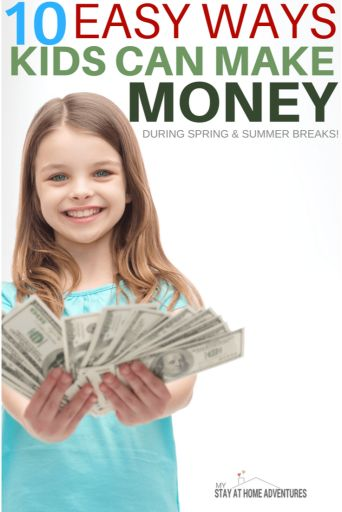 During the springtime, kids can make money in so many different ways. Learn how kids can make money over spring break with these ideas. via @mystayathome