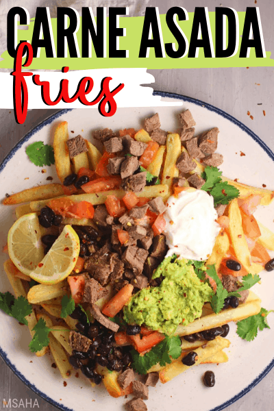 Super Easy Carne Asada Fries (Using Frozen Fries)