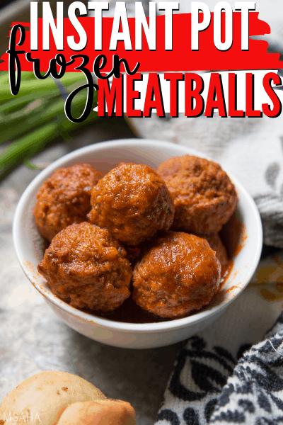 Easy & Fast Instant Pot Frozen Meatballs Recipe (3-Ingredients)  Frozen meatballs made using an Instant Pot