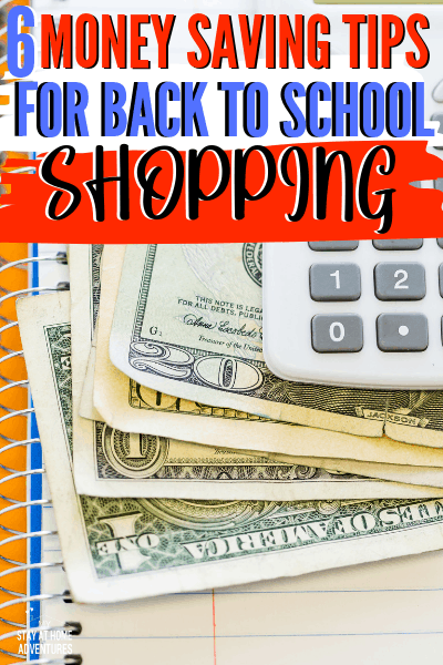 Check out 6 painless Money Saving Tips For Back To School and a list of 2019 Sales Tax Free holiday to help you save even more money! via @mystayathome