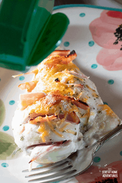 Our family's favorite go-to chicken recipe is Ranch Hasselback Chicken! Check out my quick and delicious 4-ingredient chicken breast recipe from @Hidden.Valley Ranch you and your family are going to love here! #HVRlove #ad via @mystayathome