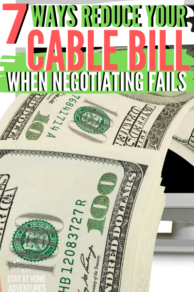 7 Helpful Ideas to Reduce Your Cable Bill (When Negotiating Fails)  via @mystayathome