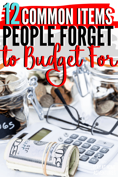 Working on a budget? Don't forget these twelve common items people forget to budget for and if you are not sure, learn what they are. via @mystayathome