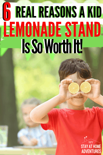 Even today we encourage parents to have a kid lemonade stand and for good reasons. A lemonade stand for kids is good for them and you can learn why here. via @mystayathome