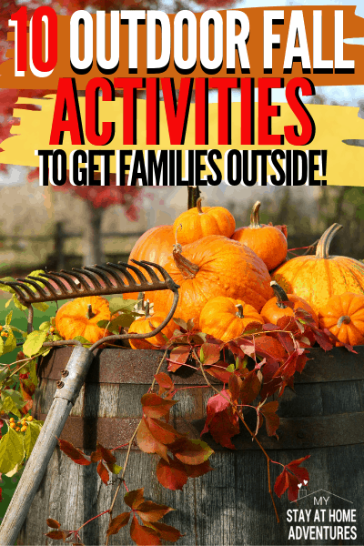 Learn ten frugal outdoor fall activities to get families outside.