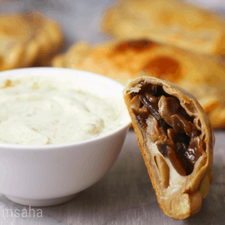 Cheese and Mushroom Empanadas