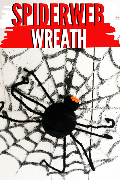 Got a glue gun? Want to make a spider wreath to decorate your door? Learn how to make this DIY spiderweb wreath with step by step instructions. via @mystayathome