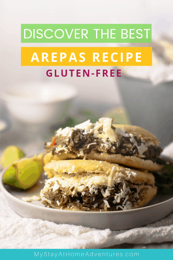 Simple and so delicious Venezuelan Arepas recipe and you can make this recipe with these 3 ingredients. via @mystayathome