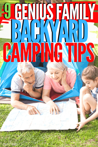 A great home adventure is backyard camping that you and your family and friends will enjoy. Learn nine tips to enjoy the ultimate family backyard camping. via @mystayathome