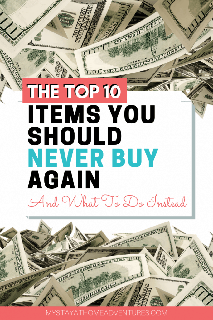 When you are having money problems, there are ten things you should never buy when struggling financially that you can live without and use that money to do this instead.