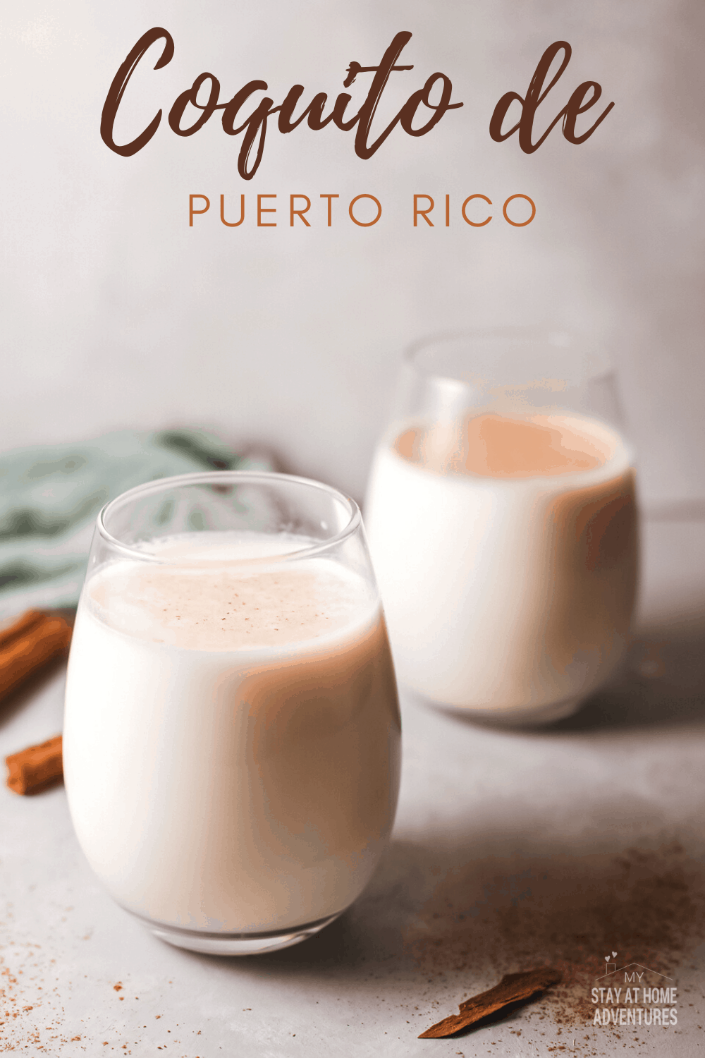 Traditional Coquito recipe with no eggs - Delicious Puerto Rican style coquito recipe. via @mystayathome