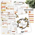 November Monthly Budget Printables