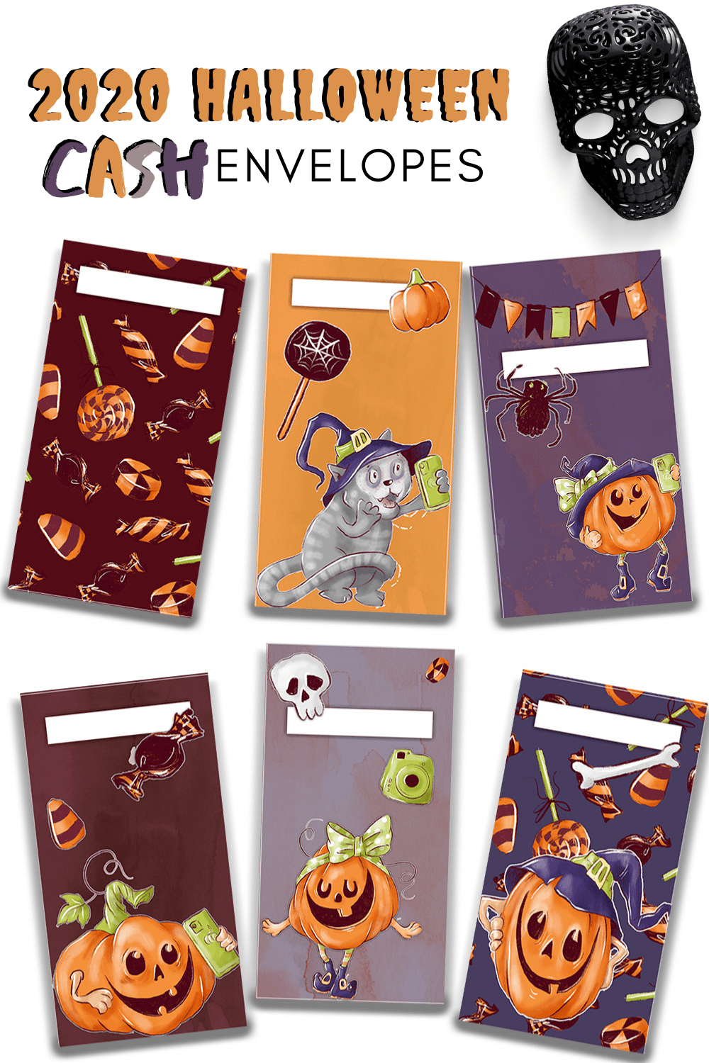 Find the best Halloween Cash Envelopes templates here. Different styles and designs you are going to fall in love with. Cash budgeting will never be the same. via @mystayathome